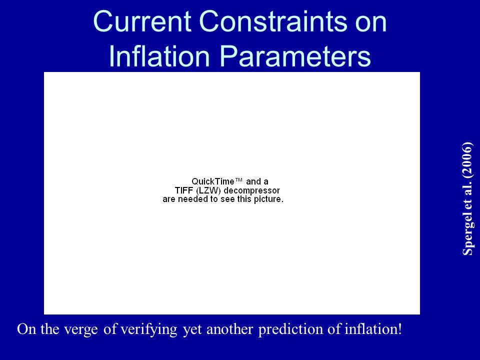 Current Constraints on Inflation Parameters Spergel et al.