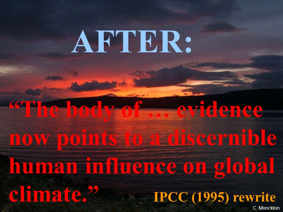 109 BEFORE (#5) When will an anthropogenic effect on climate be identified? It is not surprising that the best answer to this question is, We do not k