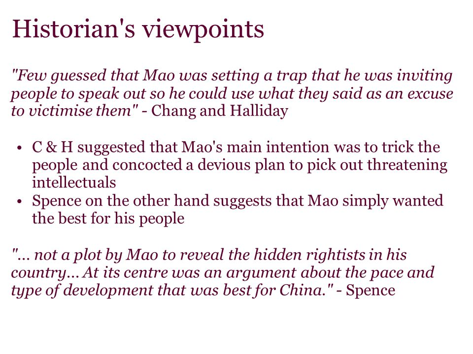 Historian's viewpoints