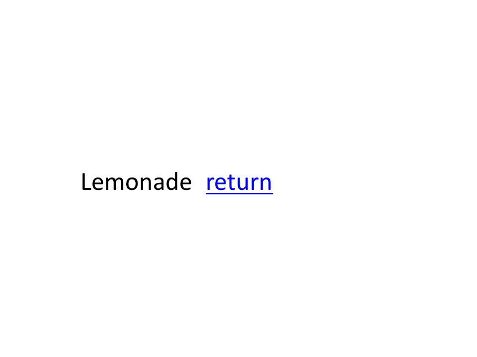 Lemonade returnreturn