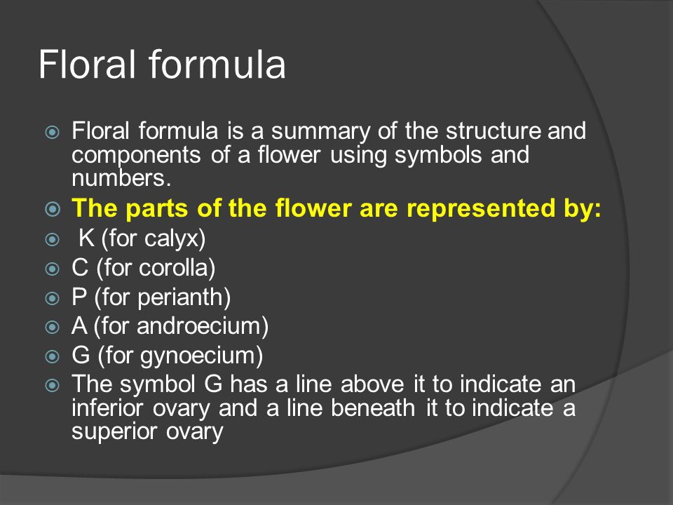 The sexuality of the flower is represented by the standard symbols for males () and females ().