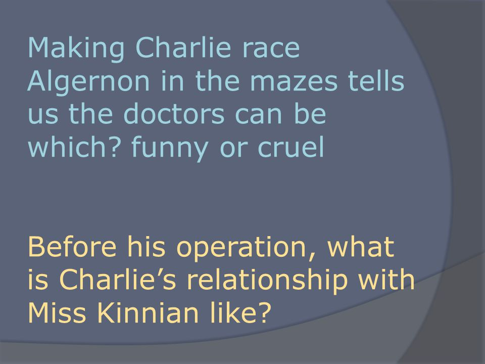 How does Charlie feel going into his operation.