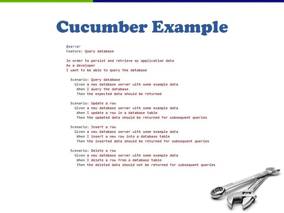 Cucumber Example