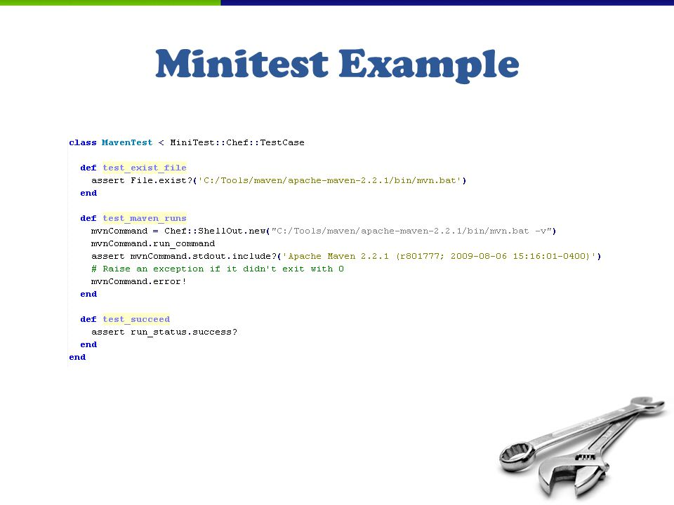 Minitest Example