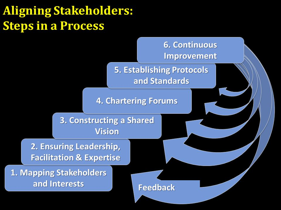 Aligning Stakeholders: Steps in a Process 1. Mapping Stakeholders and Interests 2.