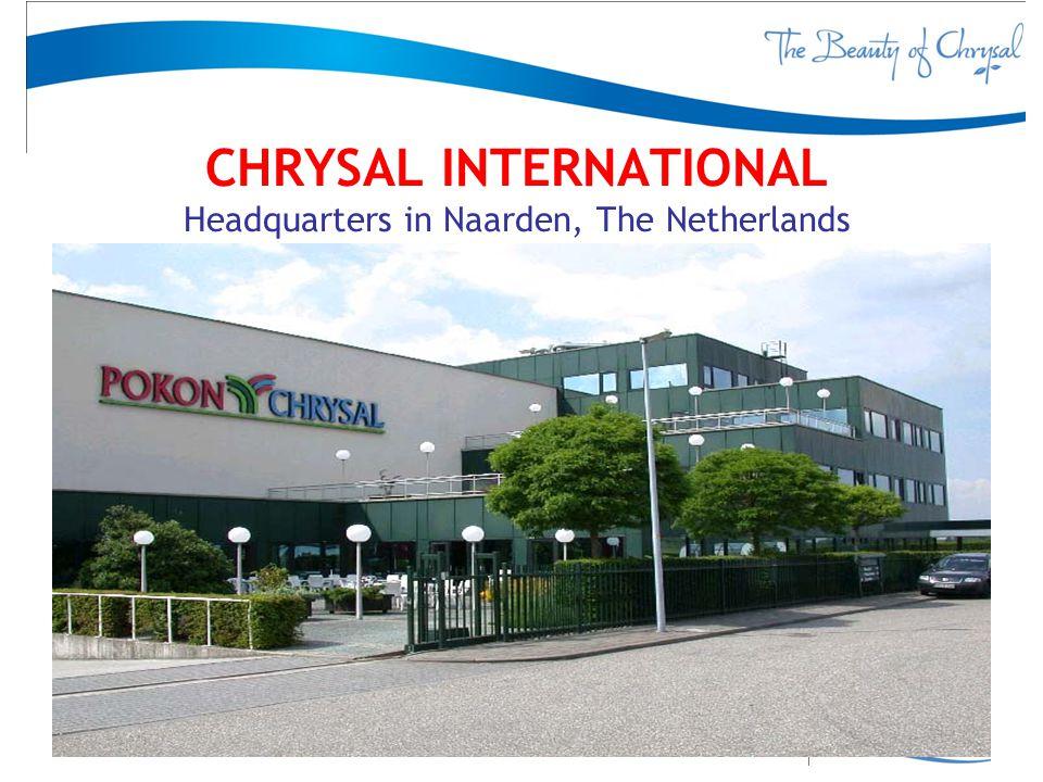 CHRYSAL INTERNATIONAL Headquarters in Naarden, The Netherlands