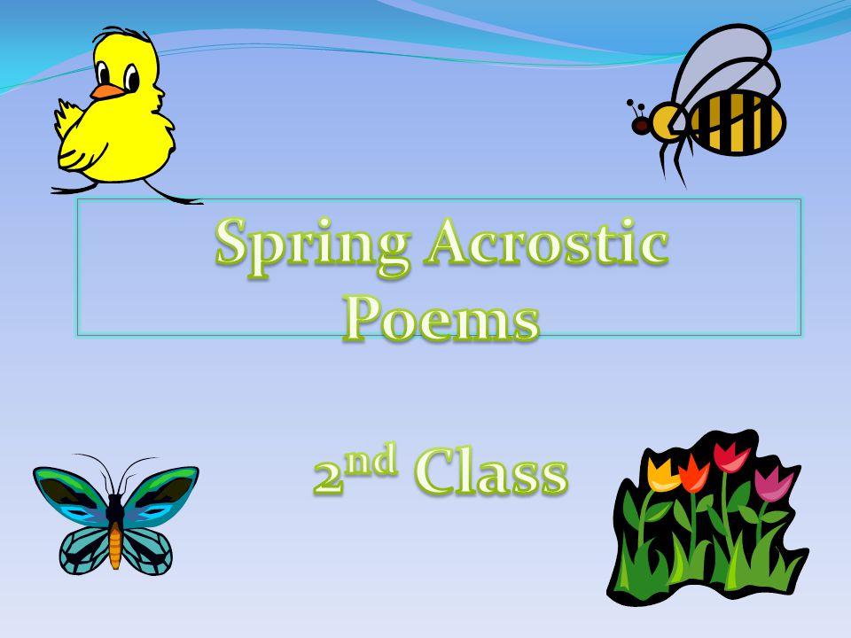 Spring Spring has sprung, the fun has begun.Pretty flowers start to bloom.