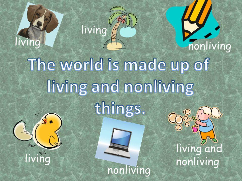 living nonliving living nonliving living and nonliving