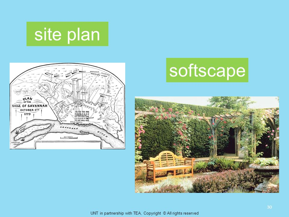 site plan softscape 30 UNT in partnership with TEA, Copyright © All rights reserved