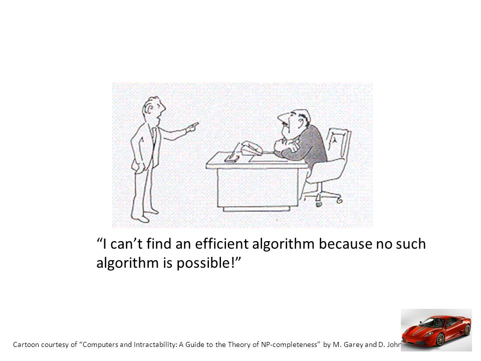 I cant find an efficient algorithm because no such algorithm is possible!