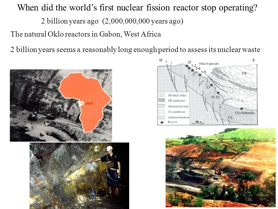 When did the worlds first nuclear fission reactor stop operating.