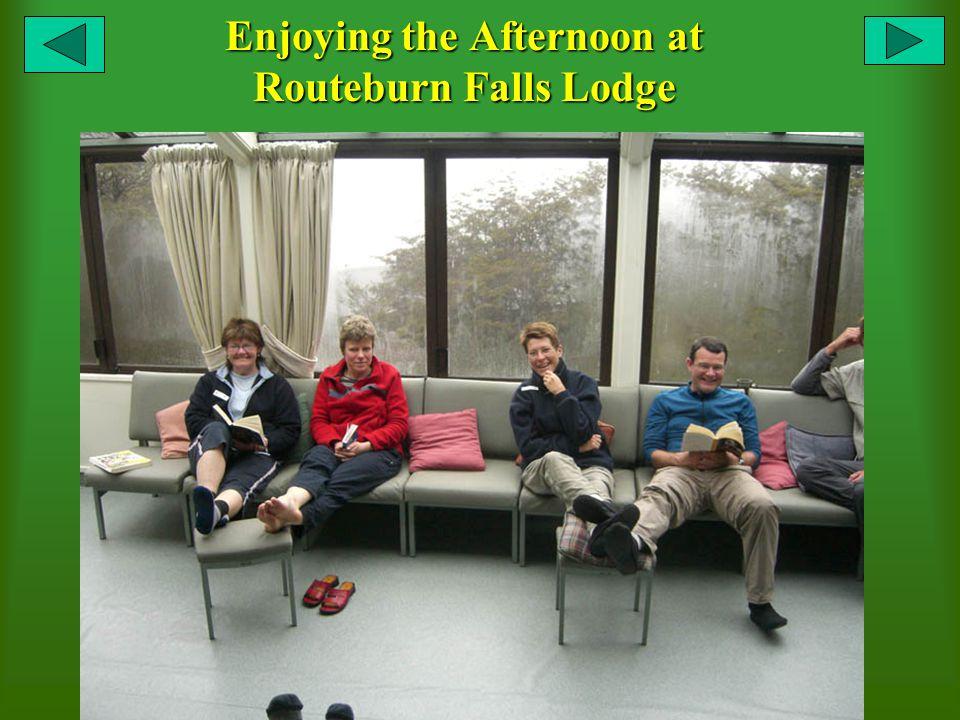 Enjoying the Afternoon at Routeburn Falls Lodge
