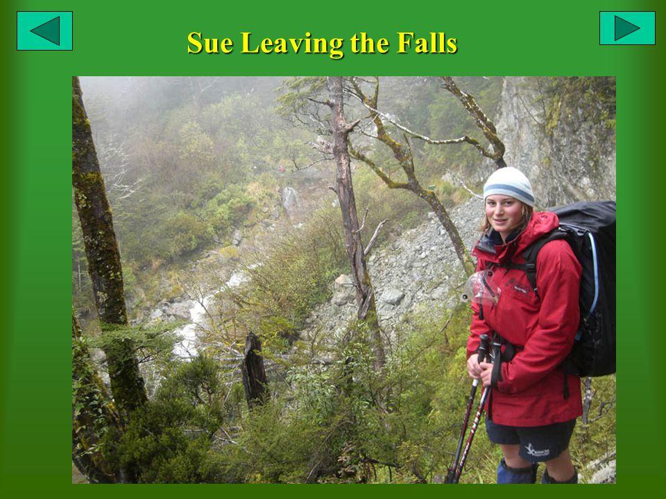 Sue Leaving the Falls