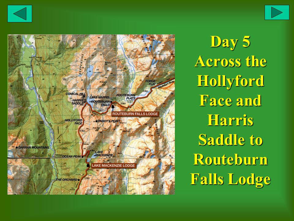 Day 5 Across the Hollyford Face and Harris Saddle to Routeburn Falls Lodge