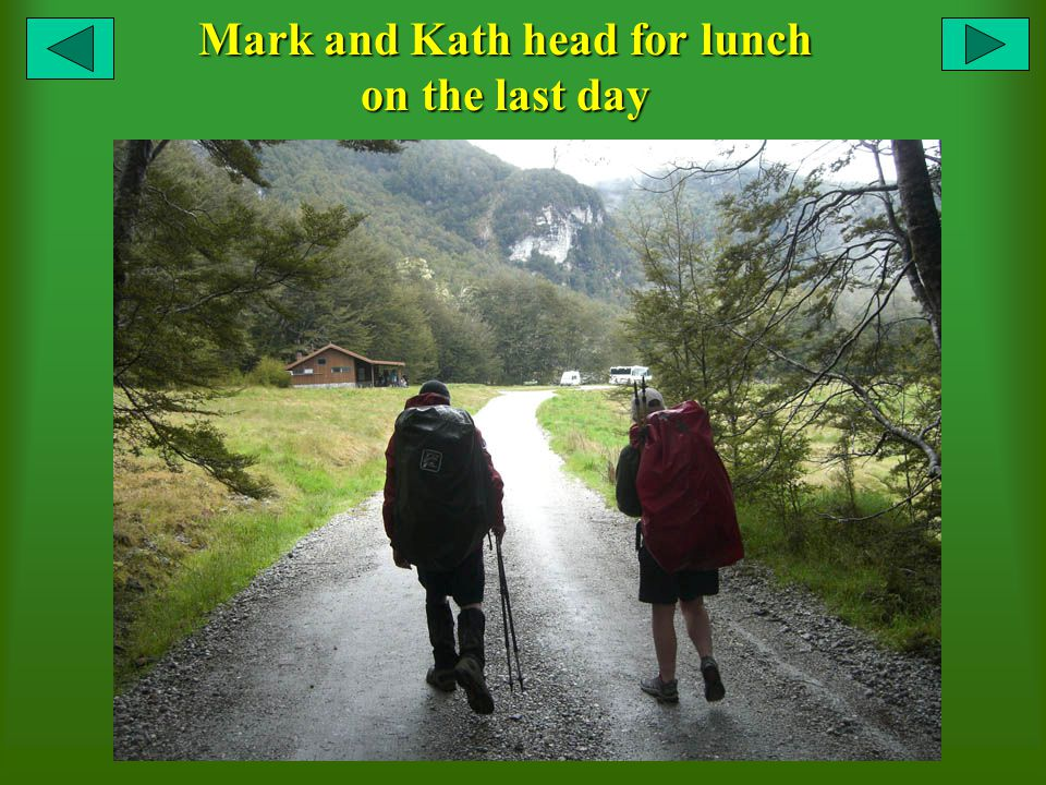 Mark and Kath head for lunch on the last day