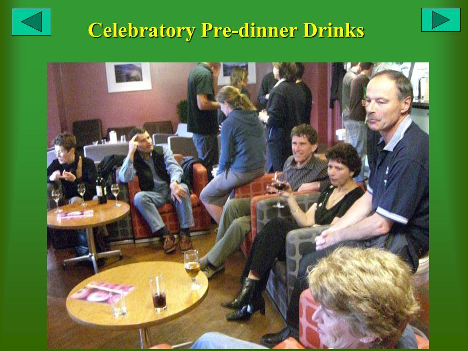 Celebratory Pre-dinner Drinks