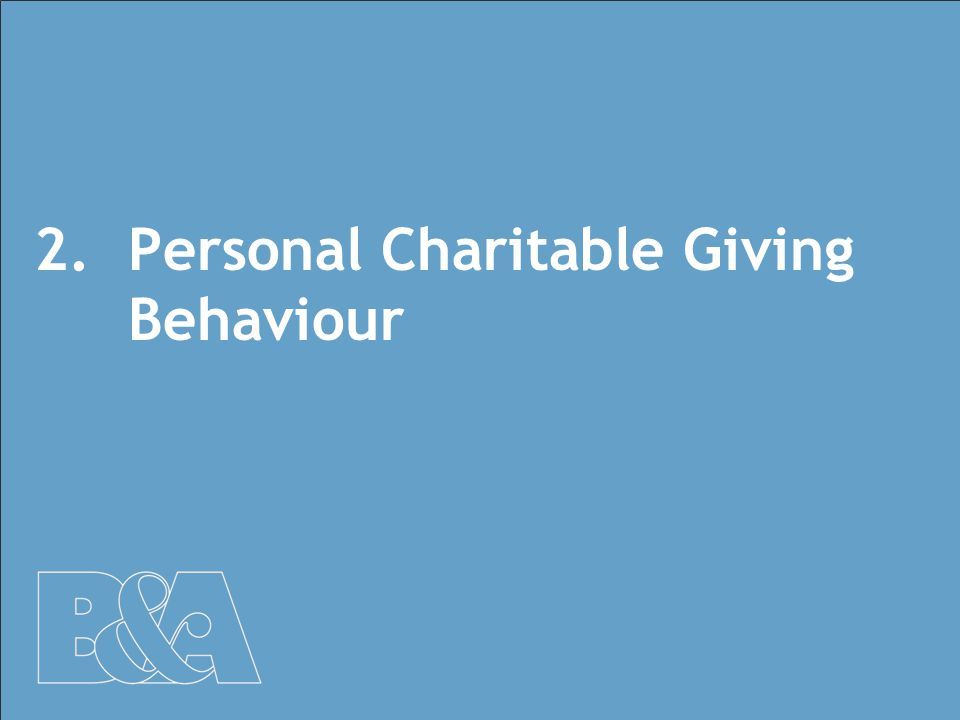 10 2.Personal Charitable Giving Behaviour