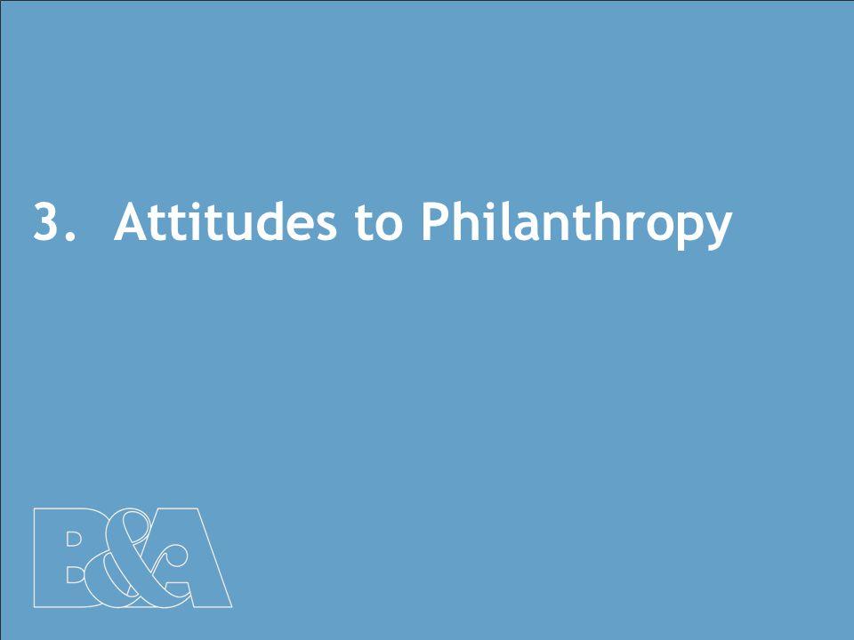 18 3.Attitudes to Philanthropy