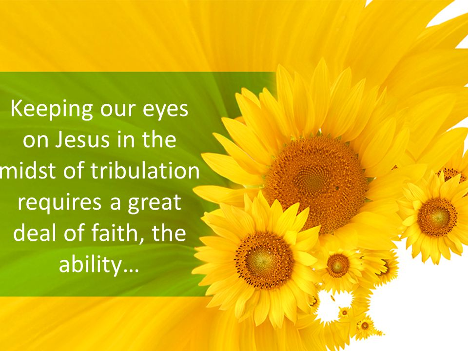 Keeping our eyes on Jesus in the midst of tribulation requires a great deal of faith, the ability…