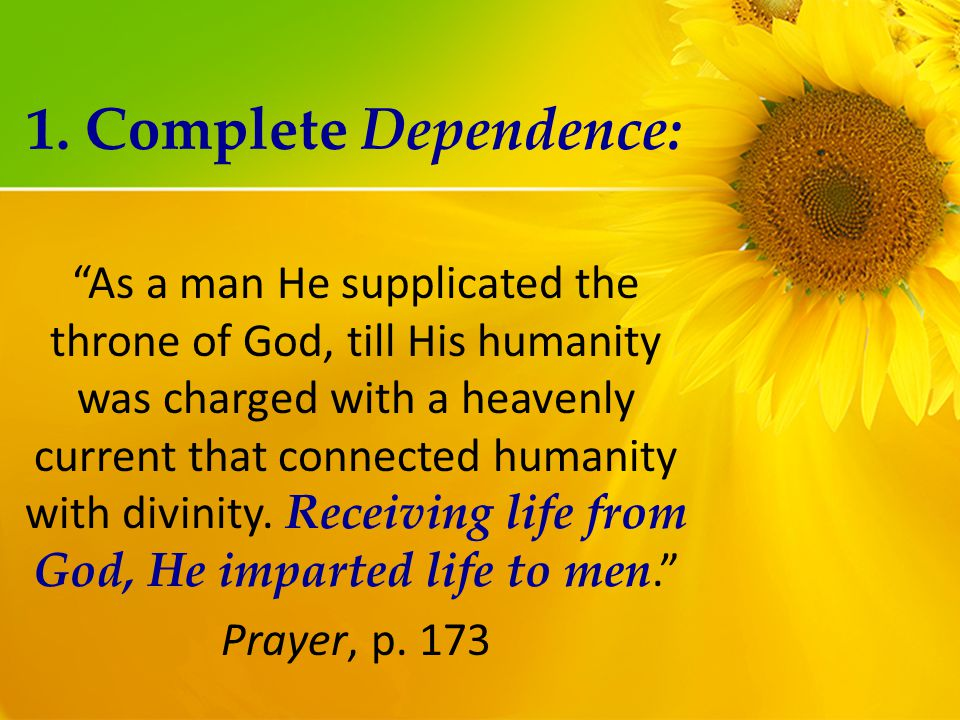 As a man He supplicated the throne of God, till His humanity was charged with a heavenly current that connected humanity with divinity.