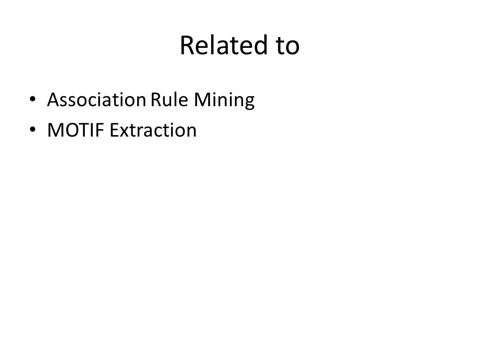 Related to Association Rule Mining MOTIF Extraction