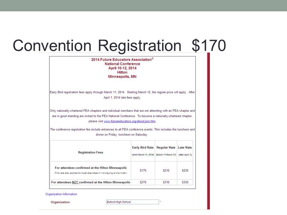 Convention Registration $170