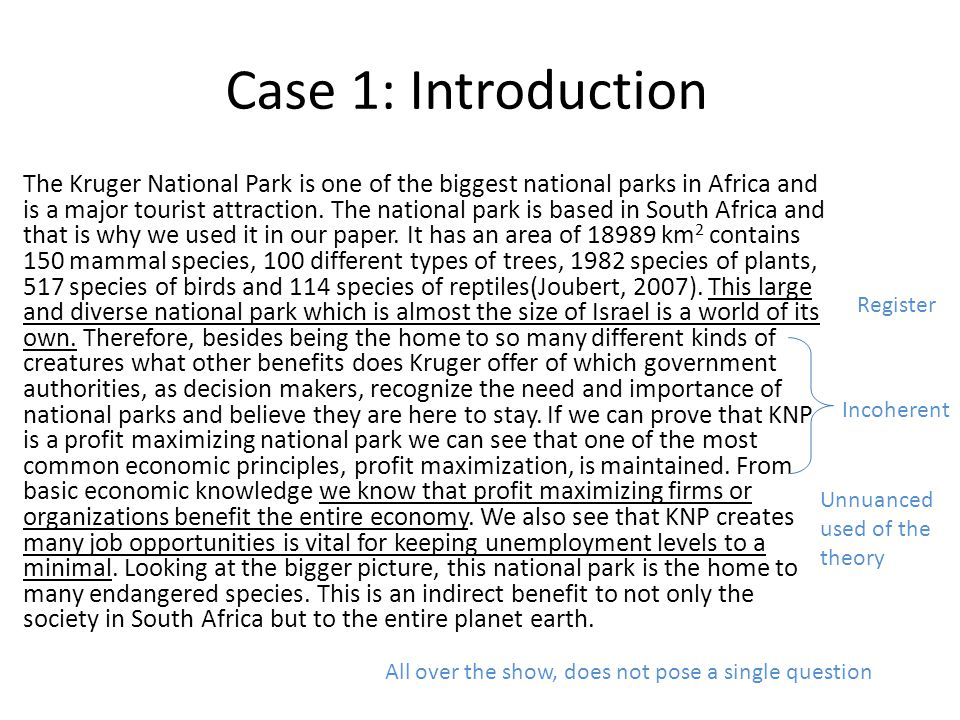 Case 1: References Tupy, M (2006).South African Land Woe.