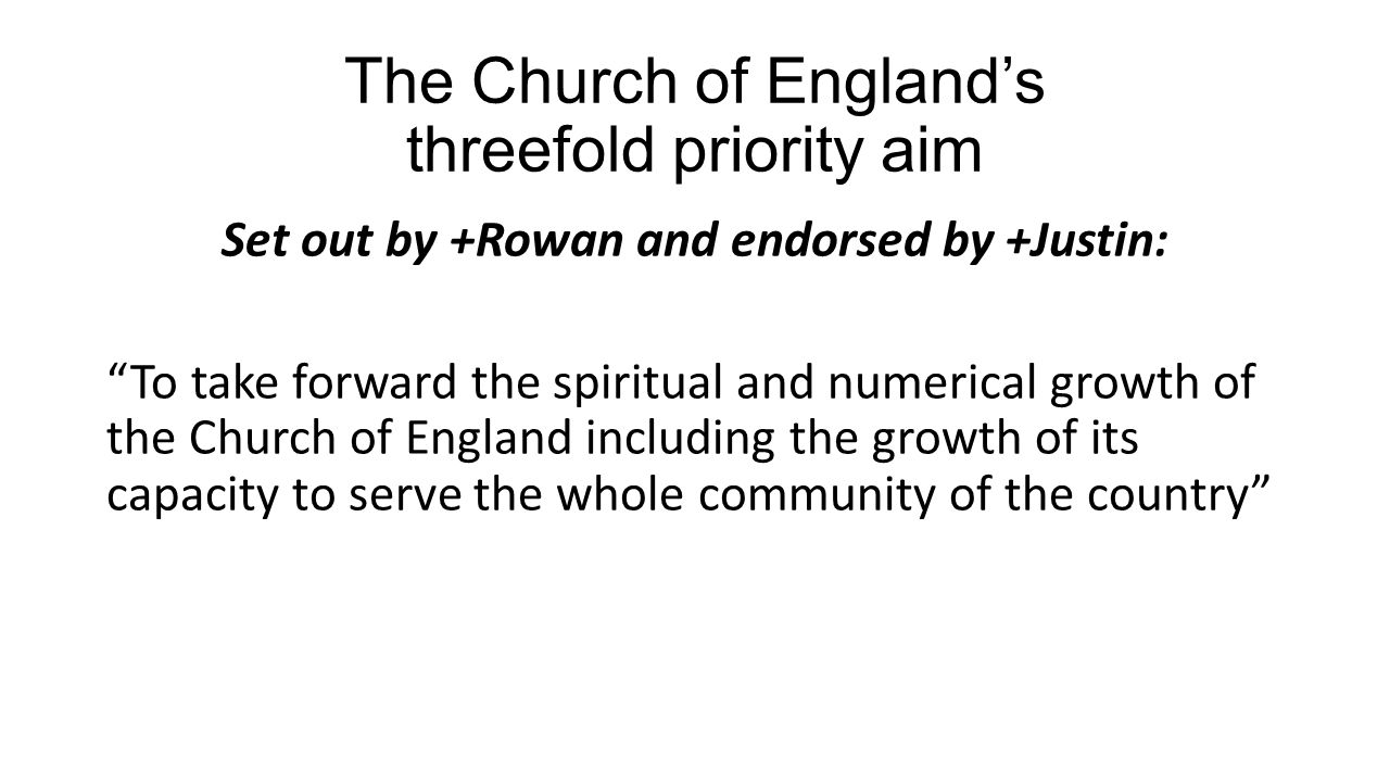 The Diocesan Strategy Prayer – coming on bookmarks very soon.