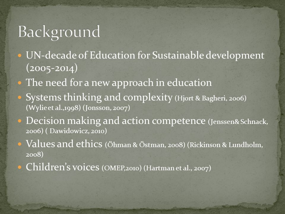 1, How do young Swedish students understand and value the aspects of sustainable development and their relations.