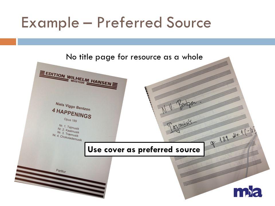 Example – Publication Place of publication: 264 _1 Frankfurt/M ; $a Leipzig ; $a London ; $a New York or, 264 _1 Frankfurt/M