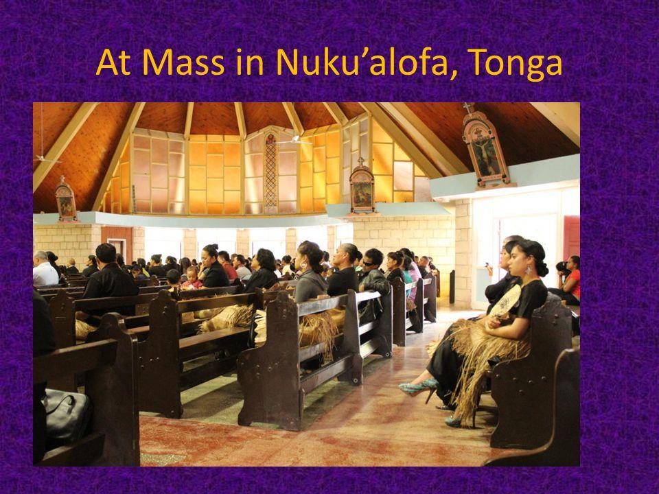 At Mass in Nukualofa, Tonga