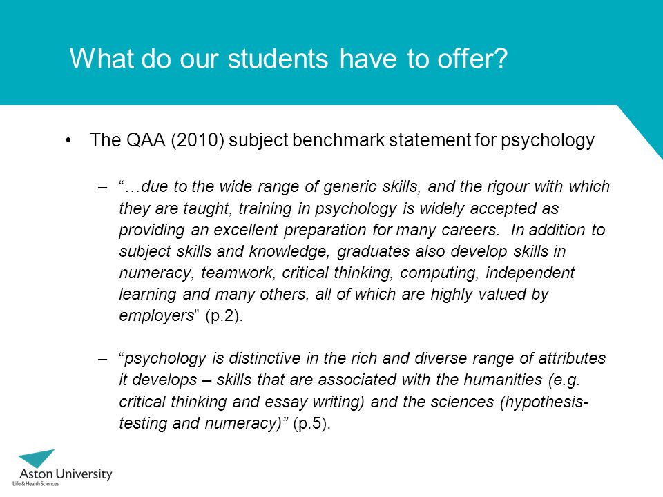What do our students have to offer.