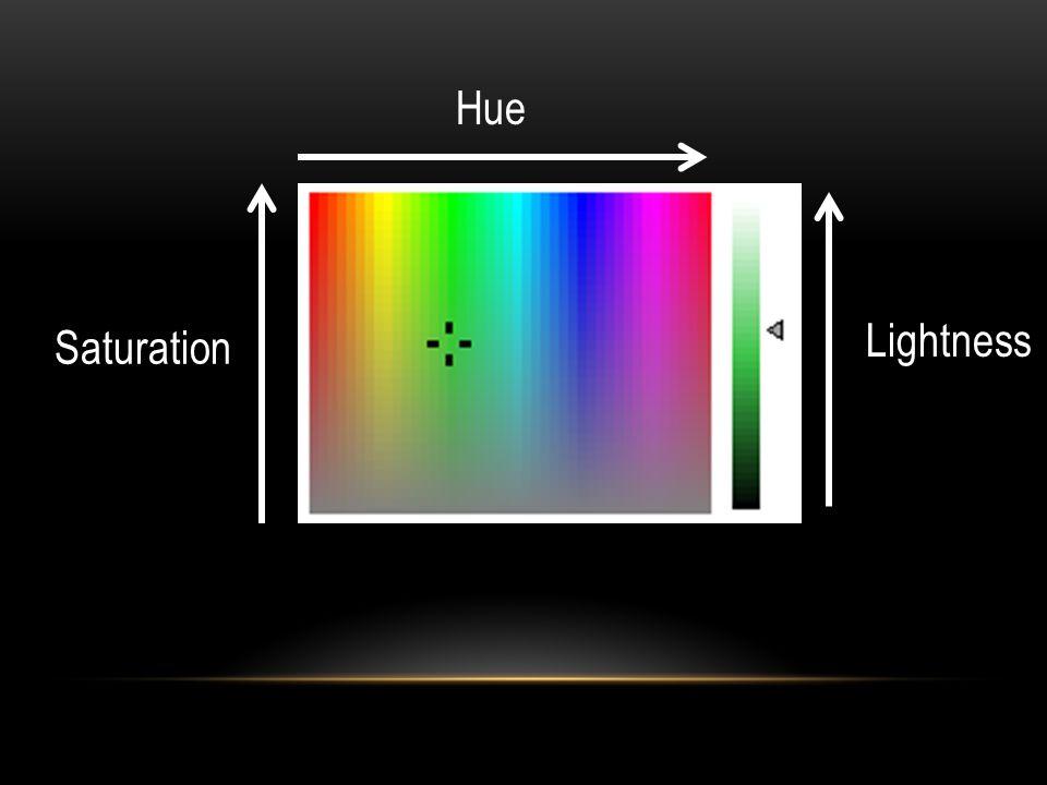 Hue Saturation Lightness
