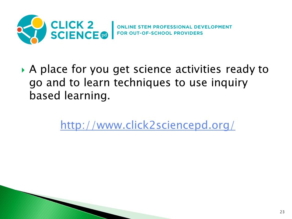 A place for you get science activities ready to go and to learn techniques to use inquiry based learning.
