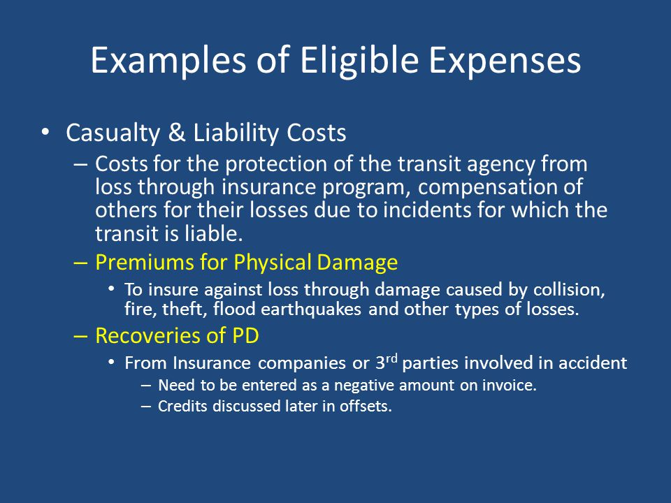 ODOT Invoice Snapshot – Casualty & Liability Costs