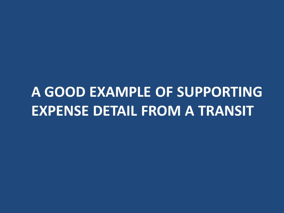 Other Costs Costs that do not fit into any other category. – Allocated Indirect costs (CAP) – As directed by ODOT Office of Transit