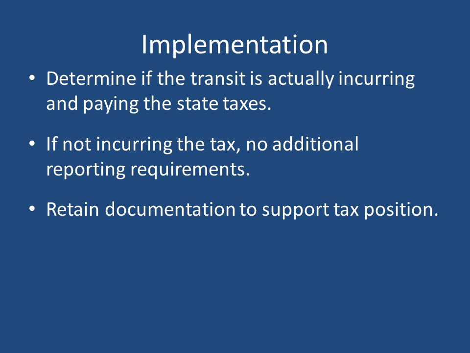 Motor Fuel Tax Rebate - Effective Must begin 3rd quarter of State Fiscal Year 2012. (January - March 2012) – Must keep documentation necessary to supp