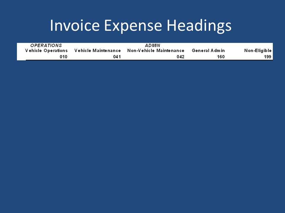 ODOT INVOICE - WHICH COLUMN TO USE?
