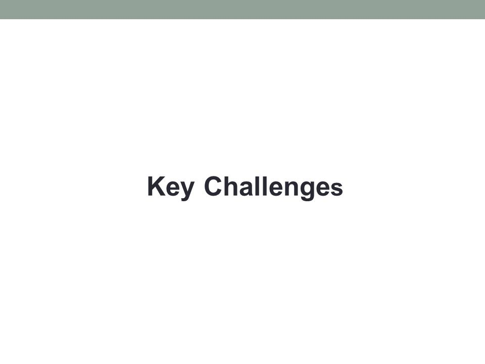 Key Challenge s