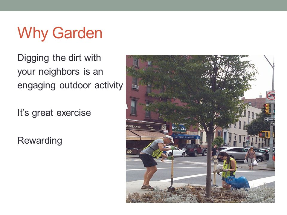 Why Garden Digging the dirt with your neighbors is an engaging outdoor activity Its great exercise Rewarding