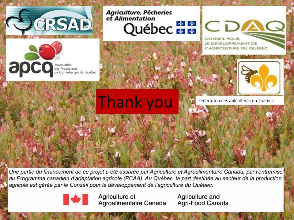 Thank you Fédération des apiculteurs du Québec