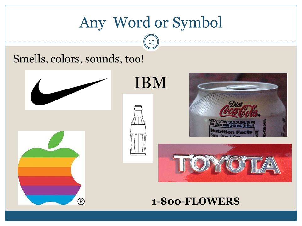 Any Word or Symbol 15 Smells, colors, sounds, too! IBM 1-800-FLOWERS