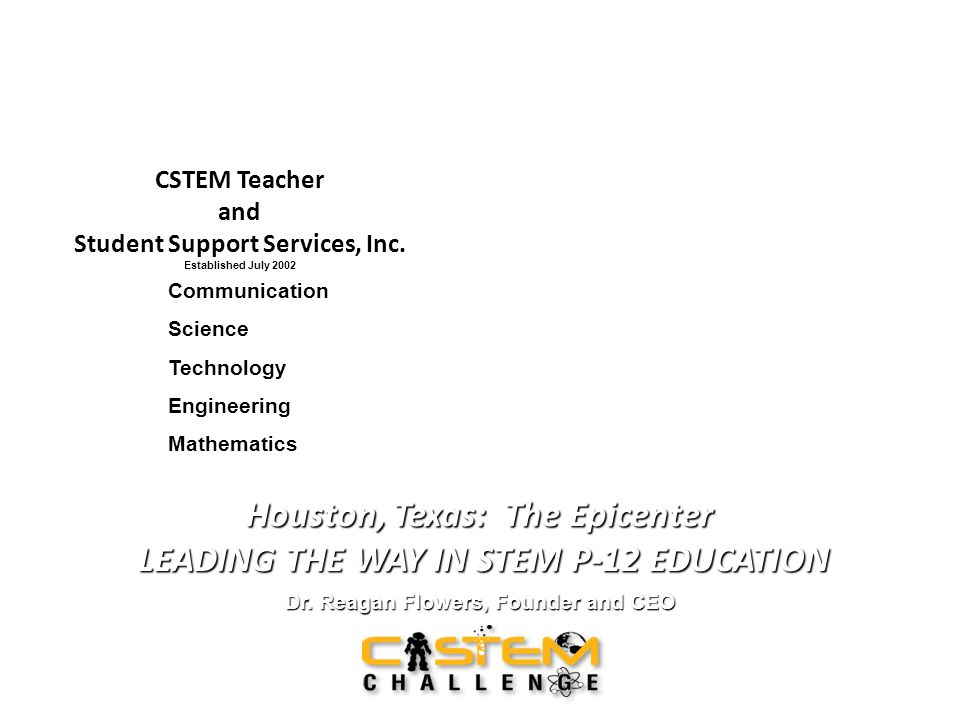 CSTEM Teacher and Student Support Services, Inc.