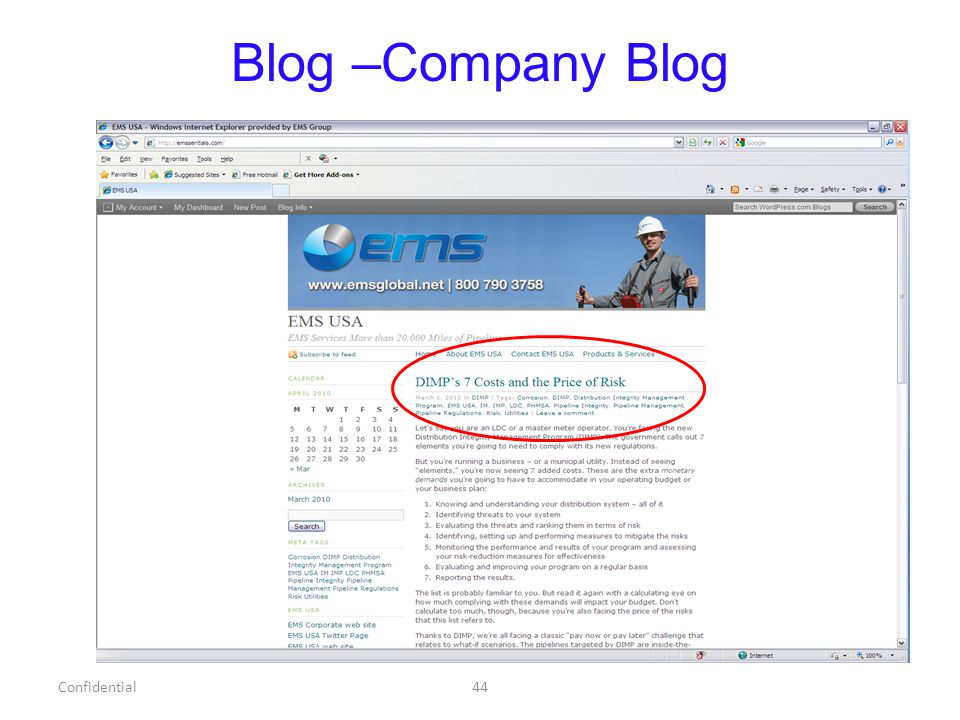 Blog –Company Blog Confidential44