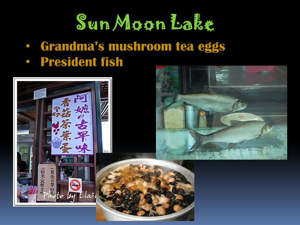 Sun Moon Lake Grandmas mushroom tea eggs President fish