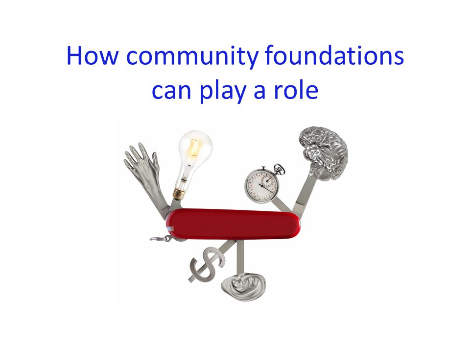 How community foundations can play a role