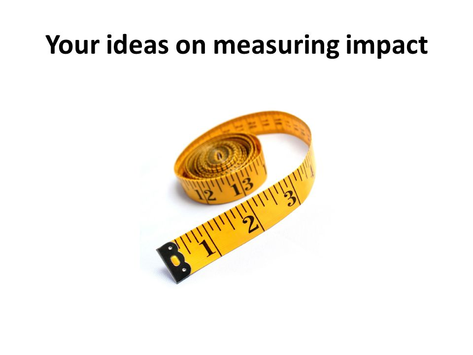 Your ideas on measuring impact