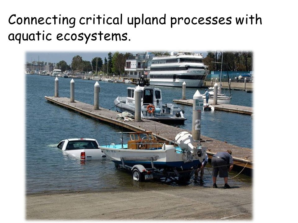 Connecting critical upland processes with aquatic ecosystems.