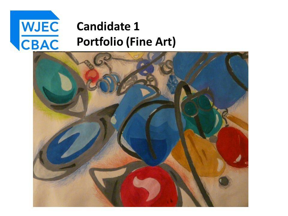 A01 – 26 A02 – 26 A03 – 26 AO4 - 27 Total – 105 Candidate 3 Portfolio (Fine Art)