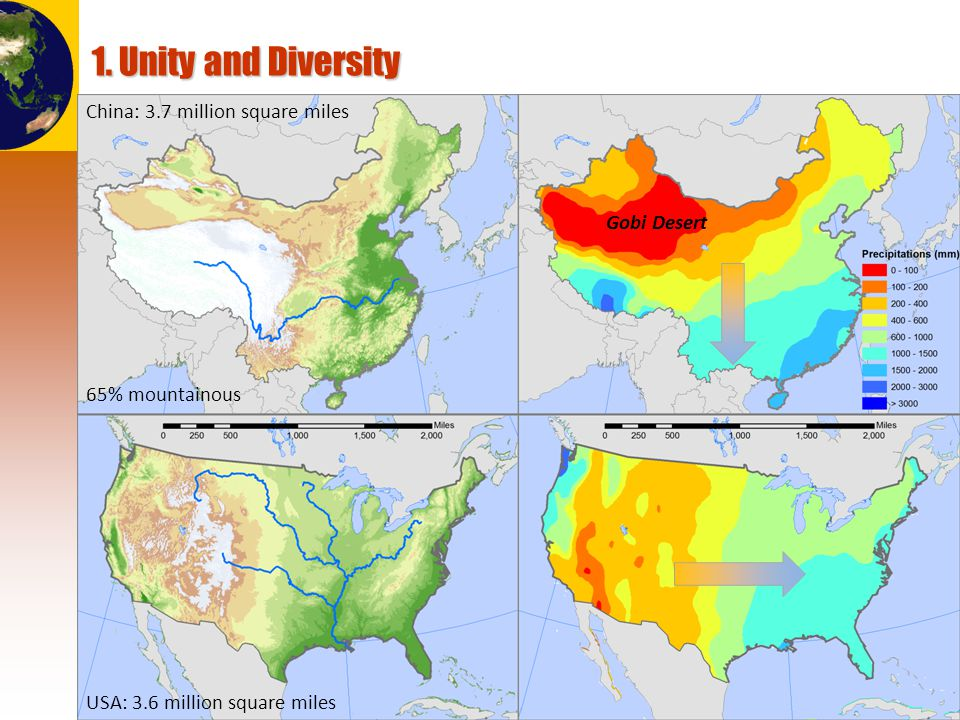 © Dr. Jean-Paul Rodrigue 1. Unity and Diversity Arable land: 12% Arable land: 25%